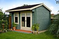 12x12 Marlborough 28mm Tongue & Groove Log cabin with felt roof tiles