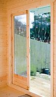 12x14 Marlborough 28mm Tongue & Groove Log cabin with felt roof tiles