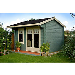 12x14 Marlborough 28mm Tongue & Groove Log cabin