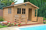 14x14 Kinver 34mm Tongue & Groove Log cabin