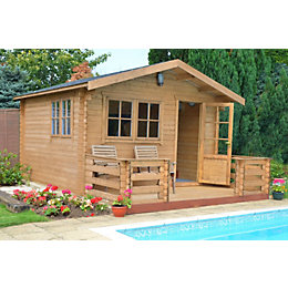 14X14 Kinver 34mm Tongue & Groove Timber Log