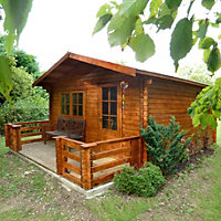 14x18 Kinver 34mm Tongue & Groove Log cabin With assembly service