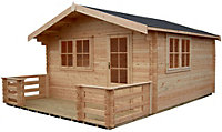 14x14 Kinver 34mm Tongue & Groove Log cabin With assembly service