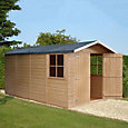 13x7 Jersey Apex roof Shiplap Wooden Shed With assembly service