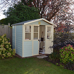 7X5 Haddon Shiplap Timber Summerhouse with Assembly Service