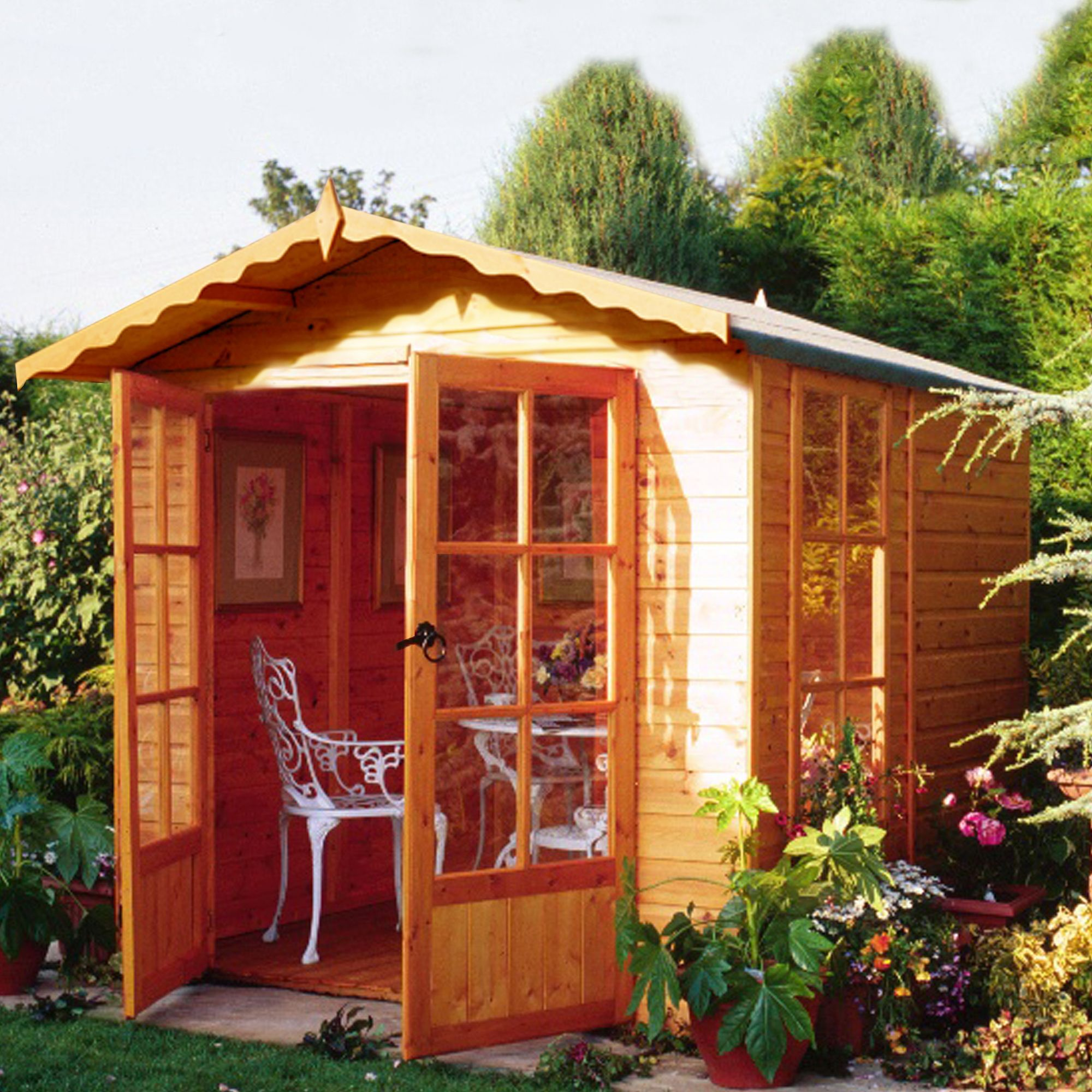 7x7 Buckingham Shiplap Summerhouse With assembly service