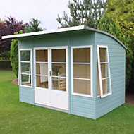 10x6 Orchid curved roof Shiplap Summerhouse With assembly service