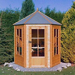7X7 Gazebo Shiplap Timber Summerhouse with Assembly Service