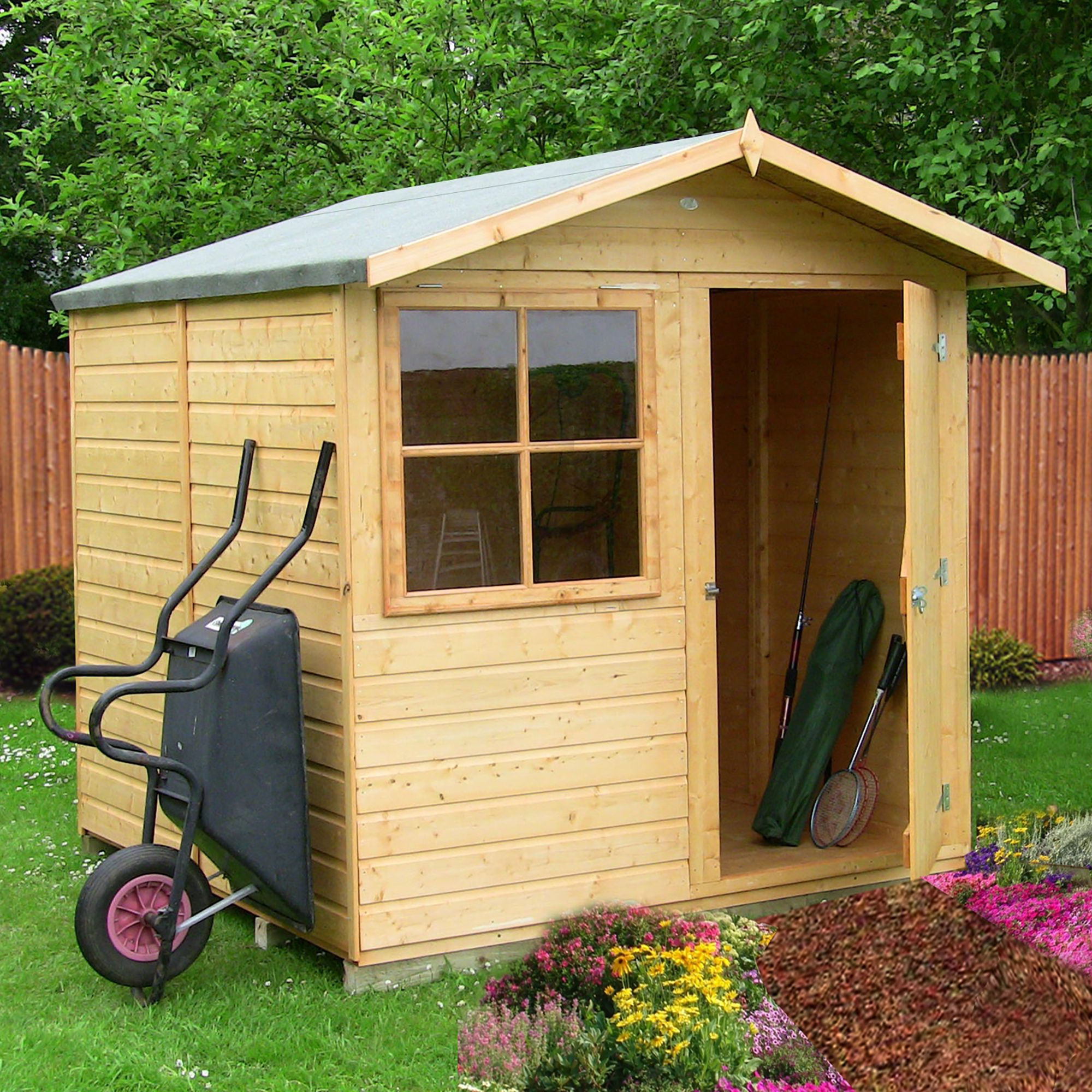 7x7 Abri Apex Shiplap Wooden Shed With assembly