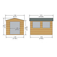 10x8 Bison Shiplap Wooden Workshop With assembly service