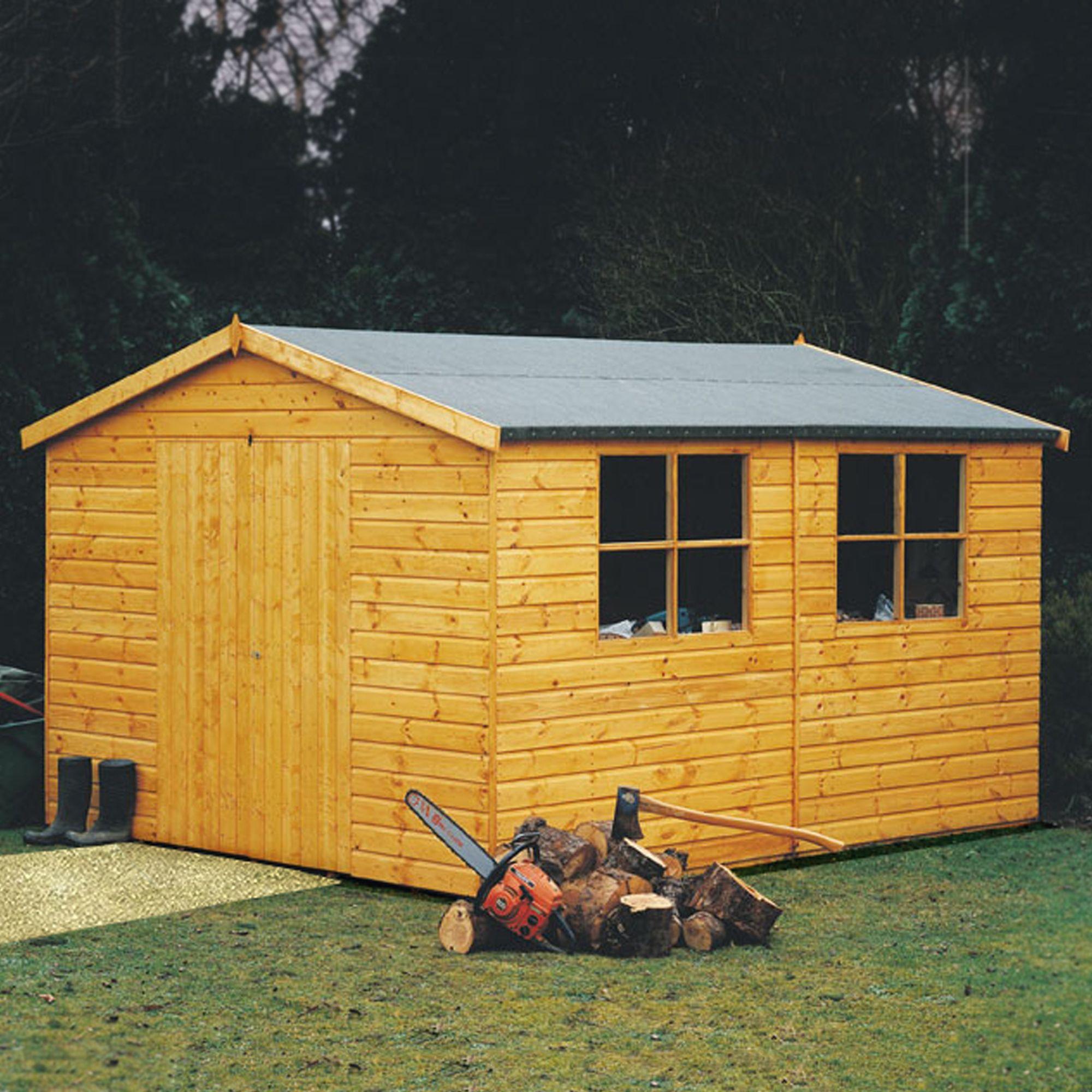 12x8 bison shiplap timber shed departments diy at b q. Black Bedroom Furniture Sets. Home Design Ideas