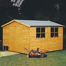 12X10 Bison Shiplap Timber Shed