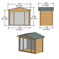 10x6 Epping 28mm Tongue & Groove Log cabin With assembly service