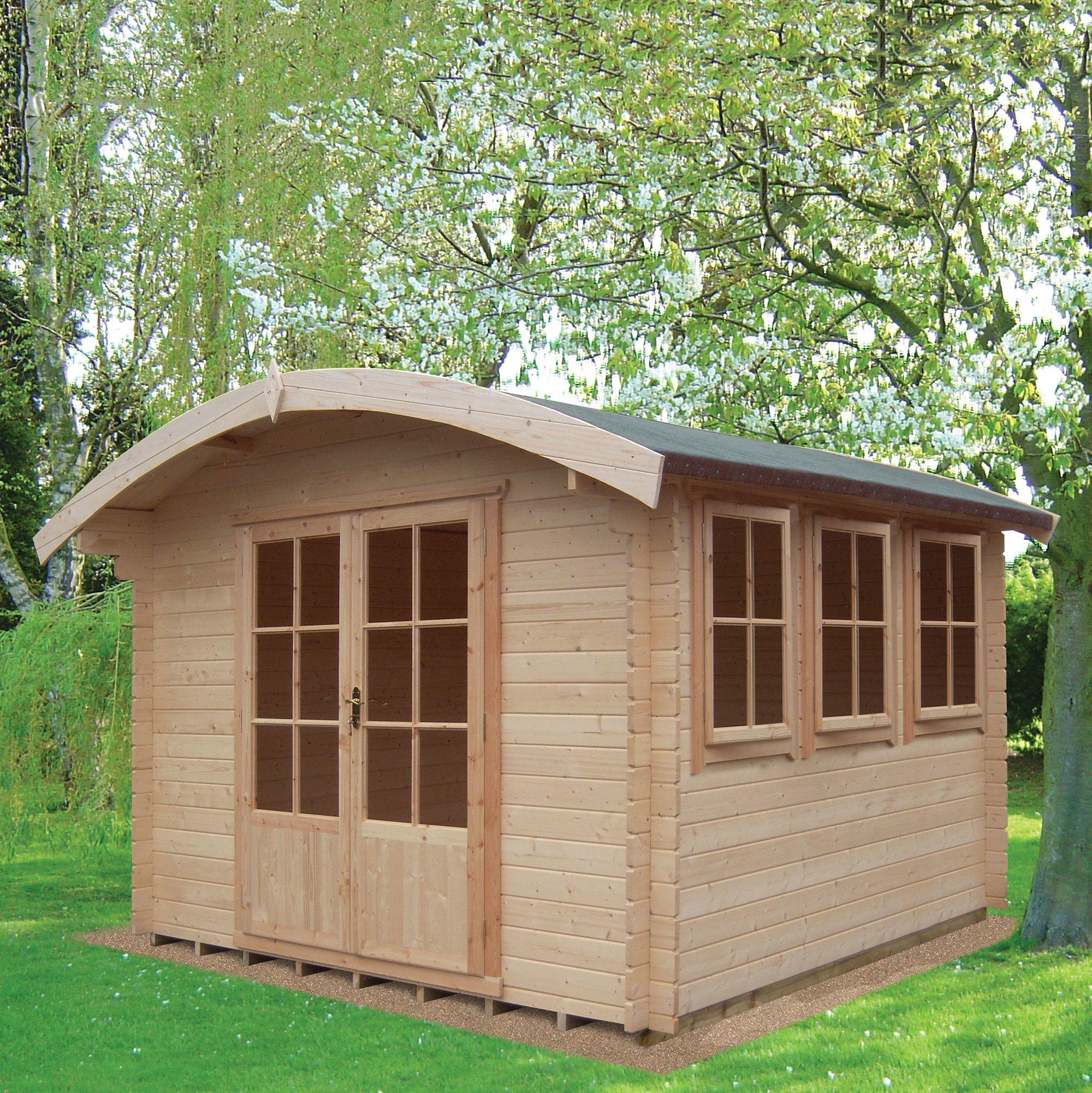 10x14 Kilburn 28mm Tongue & Groove Log cabin
