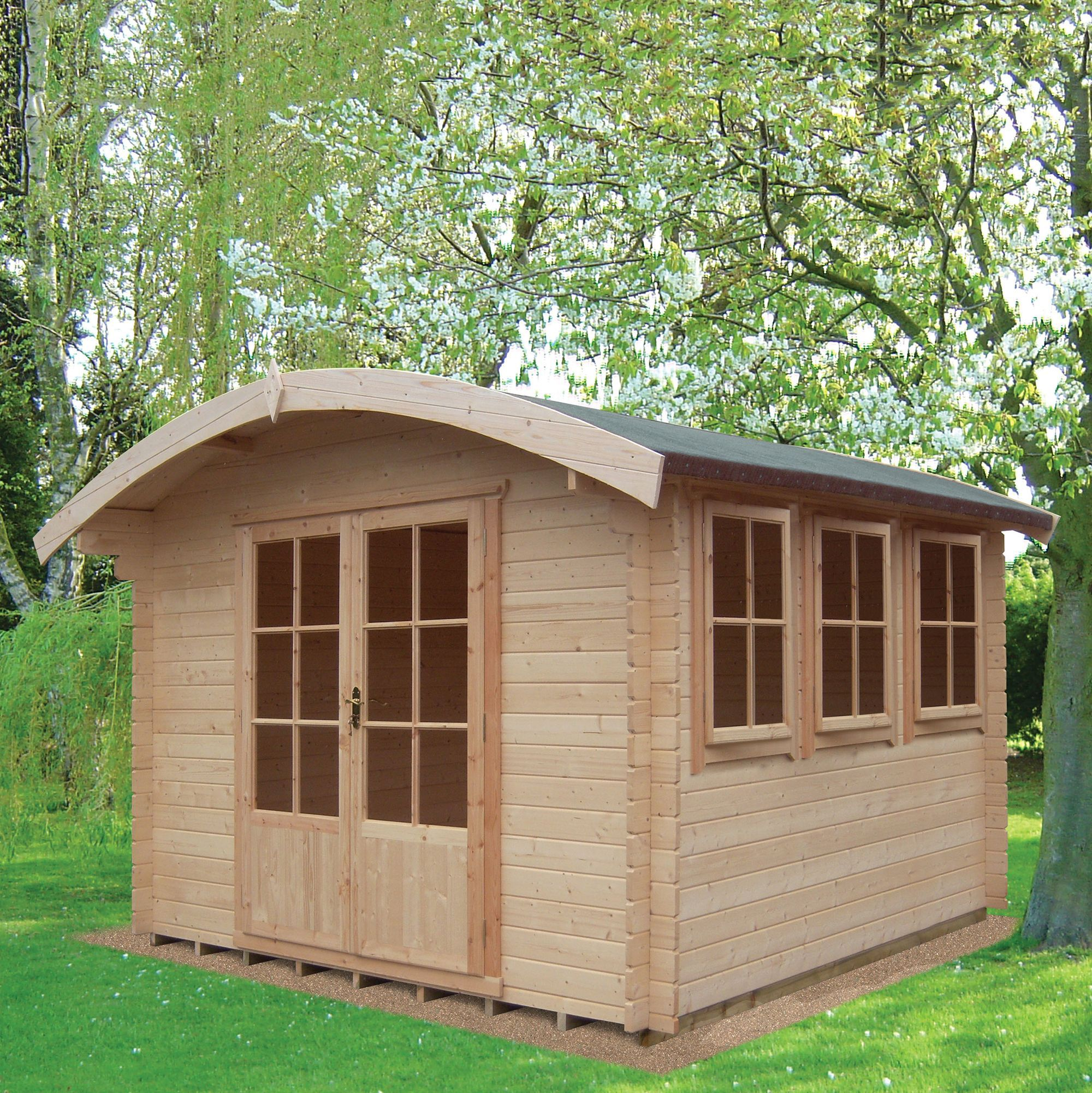 10x14 Kilburn 28mm Tongue & Groove Log cabin