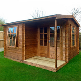 12x15 Ringwood 28mm Tongue & Groove Log cabin