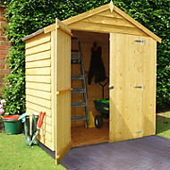 6x4 Apex roof Overlap Wooden Shed