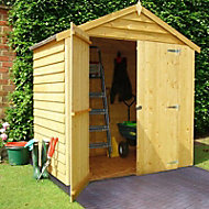 6x4 Sheds/Storage Apex roof Overlap Wooden Shed With assembly service