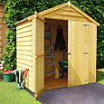 6x4 Apex roof Overlap Wooden Shed With assembly service Base included