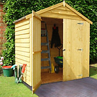 6x4 Apex roof Overlap Wooden Shed Base included