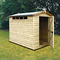 8x6 Security Cabin Apex roof Shiplap Wooden Shed