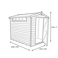10x6 Security Cabin Apex roof Shiplap Wooden Shed