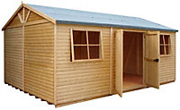 18x12 Mammoth Loglap Wooden Workshop With assembly service