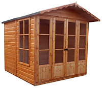 7x7 Kensington Shiplap Summerhouse Base included