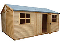 15x10 Mammoth Loglap Wooden Workshop With assembly service