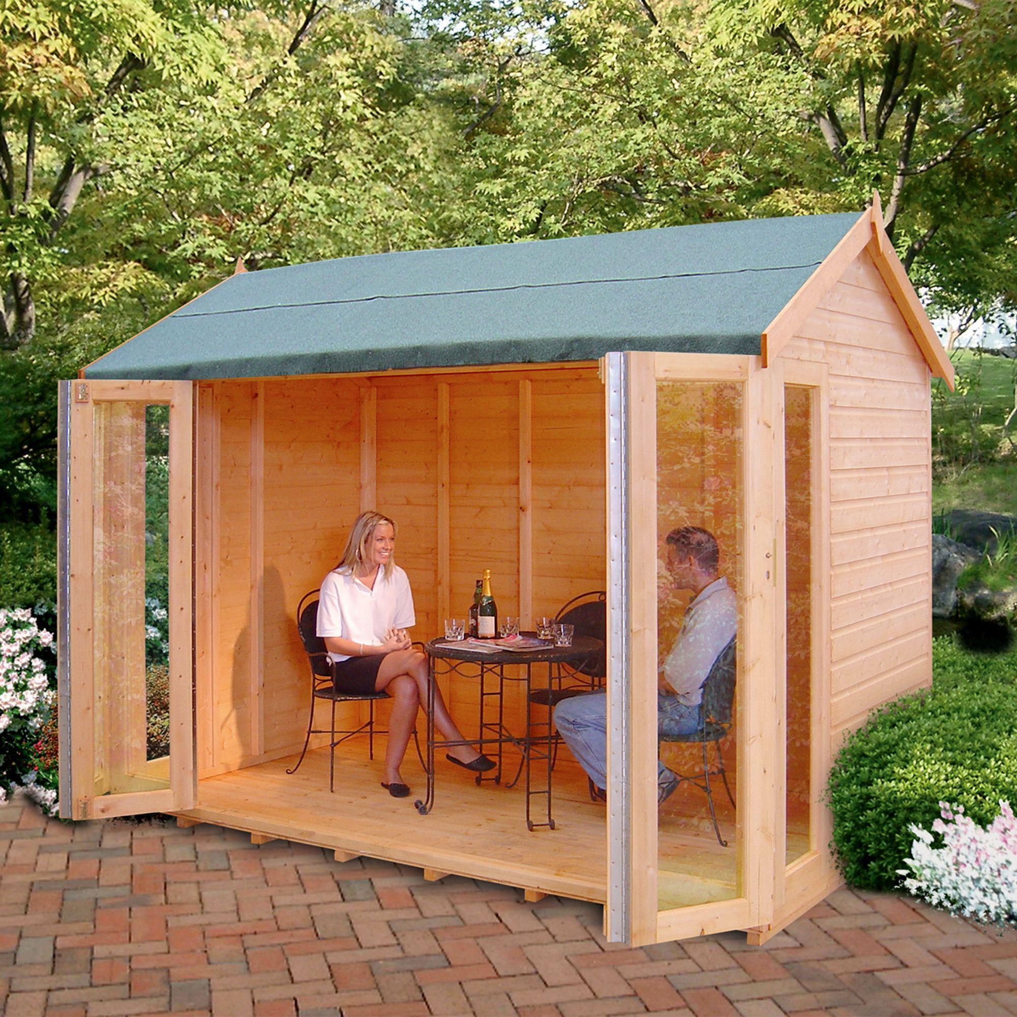 10x8 blenheim shiplap timber summerhouse departments. Black Bedroom Furniture Sets. Home Design Ideas