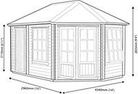 14x10 Leygrove 28mm Tongue & Groove Log cabin