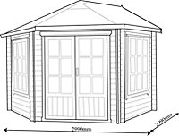 10x10 Belvoir 28mm Tongue & Groove Log cabin With assembly service