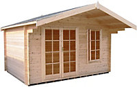 12x8 Cannock 28mm Tongue & Groove Log cabin With assembly service