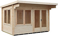 14x12 Danbury 28mm Tongue & Groove Log cabin With assembly service