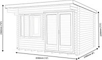 12x8 Danbury 28mm Tongue & Groove Log cabin With assembly service