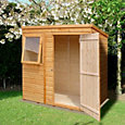 6x4 Caldey Pent Shiplap Wooden Shed With assembly service Base included