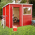 8x6 Caldey Pent Shiplap Wooden Shed With assembly service Base included