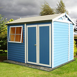 10X7 Mammoth Loglap Timber Shed with Assembly Service