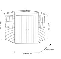 7x7 Murrow Pent Shiplap Wooden Shed With assembly service