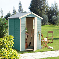 6x4 Shetland Apex roof Shiplap Wooden Shed Base included