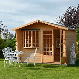 10X10 Sandringham Shiplap Timber Summerhouse with Assembly