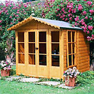 7x7 Kensington Shiplap Summerhouse with toughened glass Base included
