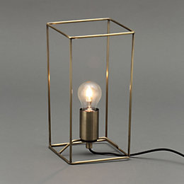 Jules Wire Antique Brass Effect Table Lamp