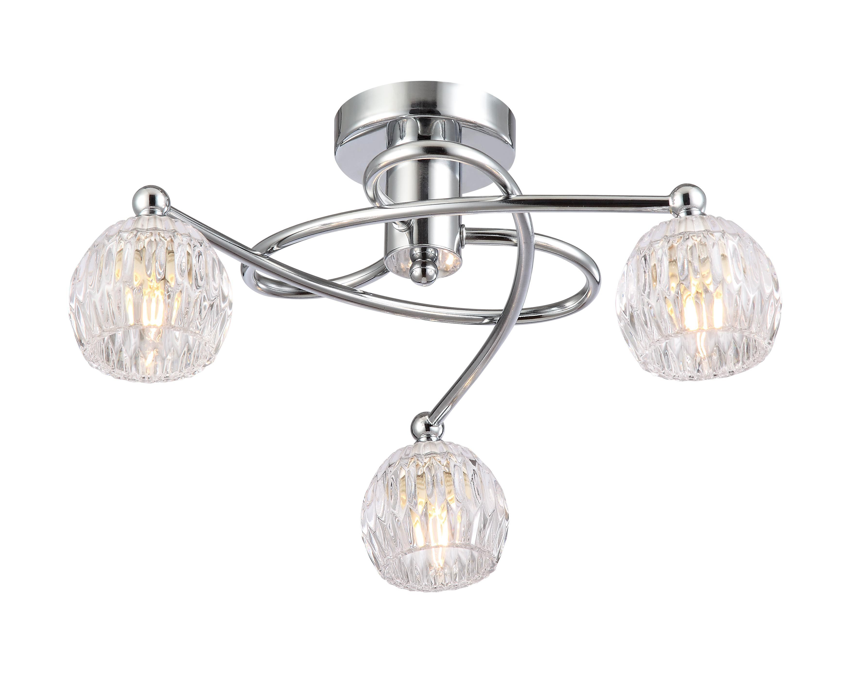 Chandler Brushed Chrome Effect 3 Lamp