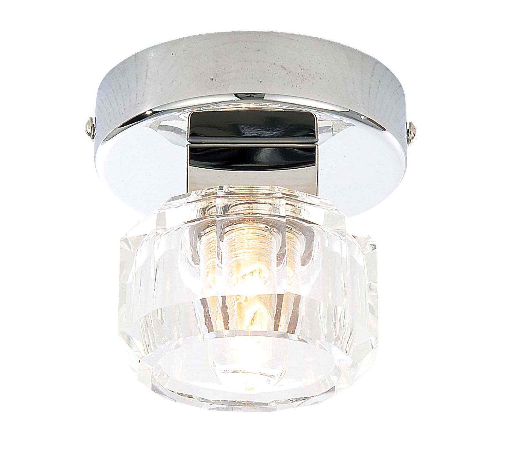 Apsley Clear Chrome Effect Bathroom Ceiling Light