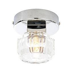 Apsley Clear Chrome Effect Bathroom Ceiling Light
