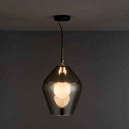 Leah Smoked Pendant Ceiling Light
