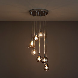 Lilie Chrome Effect 7 Lamp Pendant Ceiling Light