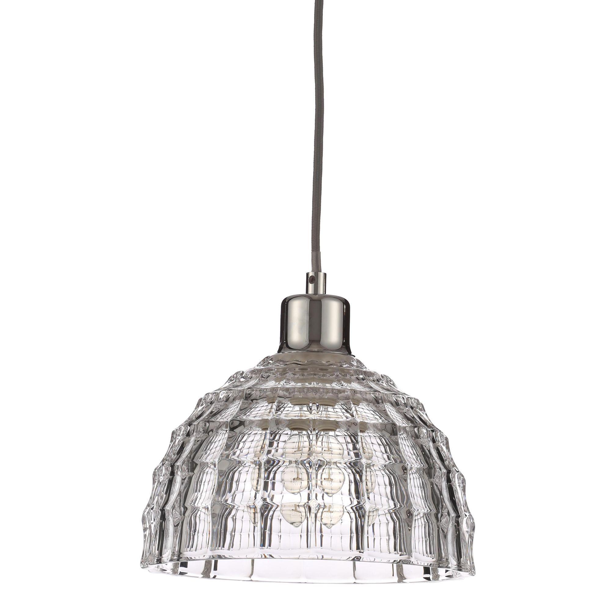 Chandelier Lighting B Q: Lau Chrome Effect Pendant Ceiling Light
