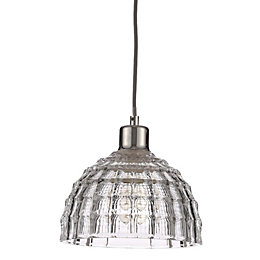 Lau Chrome Effect Pendant Ceiling Light